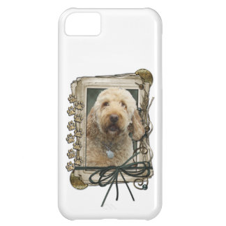 Fathers Day - Stone Paws - GoldenDoodle iPhone 5C Case