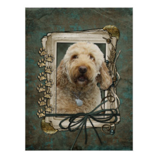 Fathers Day - Stone Paws - GoldenDoodle Posters
