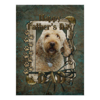 Fathers Day - Stone Paws - GoldenDoodle Print