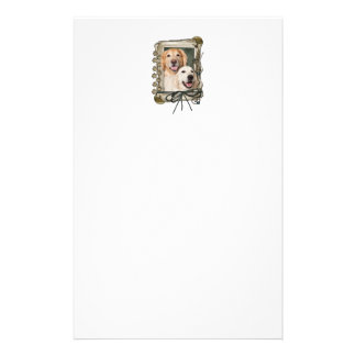 Fathers Day - Stone Paws Goldens Corona and Tebow Custom Stationery