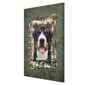 Fathers Day - Stone Paws - Greater Swiss Mountain Canvas Print