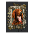 Fathers Day - Stone Paws - Irish Setter Card
