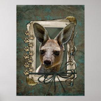 Fathers Day - Stone Paws - Kangaroo Poster