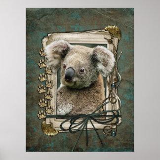 Fathers Day - Stone Paws - Koala Poster