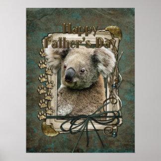 Fathers Day - Stone Paws - Koala Posters