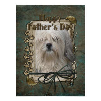 Fathers Day - Stone Paws - Lowchen Posters