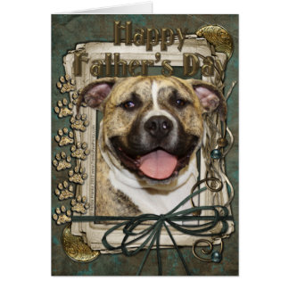 Fathers Day - Stone Paws - Pitbull - Tigger Card