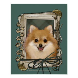 Fathers Day - Stone Paws - Pomeranian Posters