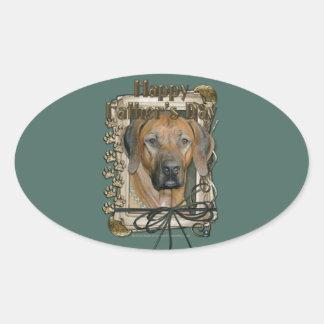 Fathers Day - Stone Paws - Rhodesian Ridgeback Oval Sticker