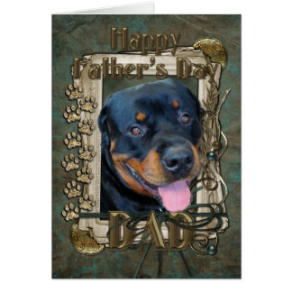 Fathers Day - Stone Paws - Rottweiler - Harley Card