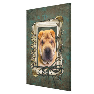 Fathers Day - Stone Paws - Shar Pei Canvas Prints