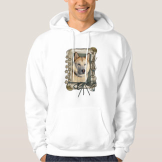 Fathers Day - Stone Paws - Siberian Husky - Copper Hoodie