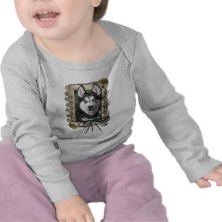 Fathers Day - Stone Paws - Siberian Husky Tee Shirt