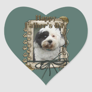 Fathers Day - Stone Paws - Tibetan Terrier Stickers