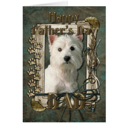 Fathers Day - Stone Paws - West Highland Terrier Cards