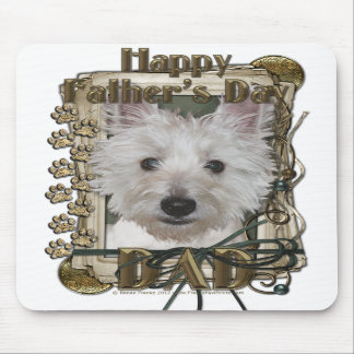 Fathers Day - Stone Paws - West Highland Terrier Mouse Pad