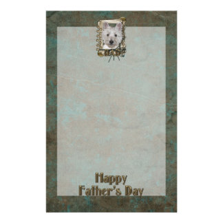 Fathers Day - Stone Paws - West Highland Terrier Personalized Stationery