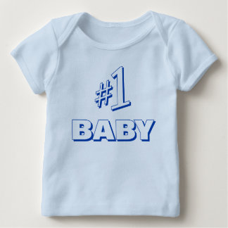 "Father's Day T-Shirt: ""#1 BABY"" (Match Set 2 of 2) Baby T-Shirt"