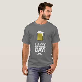 Father's Day T-shirt w/ Yellow Beer and White Foam