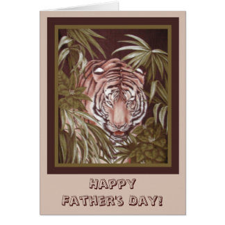 Father's Day Tiger Greeting Card