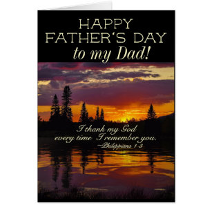 Christian fathers day cards invitations zazzle fathers day to my dad inspirational bible verse card m4hsunfo Choice Image