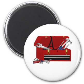 Father's Day Tool Box Initial A 6 Cm Round Magnet