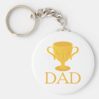 Father's Day Trophy For Number One Dad Gift Key Ring