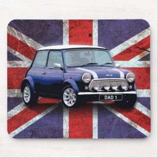 Fathers Day Union Jack car mouse mat