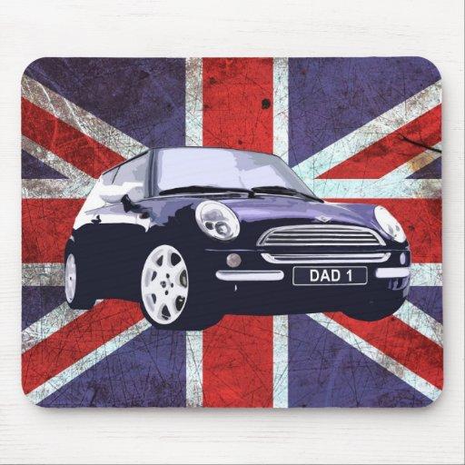 Fathers Day Union Jack car mouse mat Mousepads