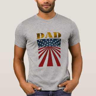 father's day USA DAD tshirt flag star stripes