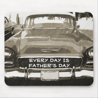 Father's Day, vintage Chevy in sepia Mouse Pad