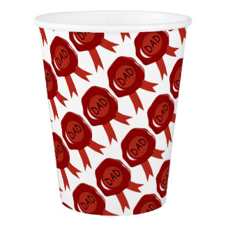 Fathers Day Wax Stamp Paper Cup