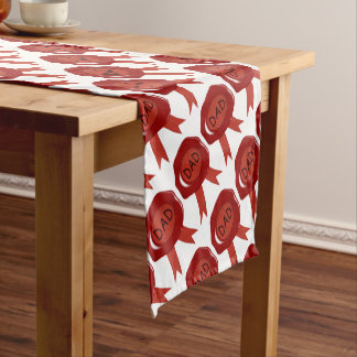Fathers Day Wax Stamp Short Table Runner