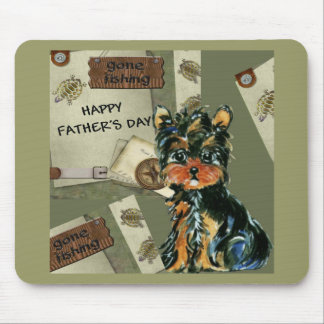 FATHER'S DAY YORKIE  POO MOUSEPADS