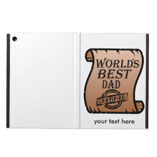 Father's DayWorld's Best Dad Certified Certificate Cover For iPad Air