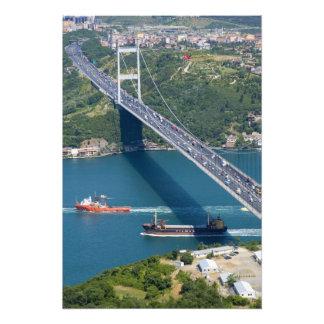 Fatih Sultan Mehmet Bridge over the Bosphorus Photographic Print