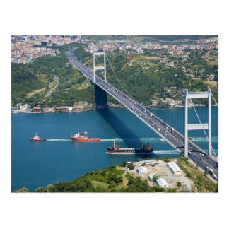 Fatih Sultan Mehmet Bridge over the Bosphorus, Postcard