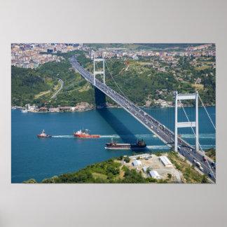 Fatih Sultan Mehmet Bridge over the Bosphorus, Poster