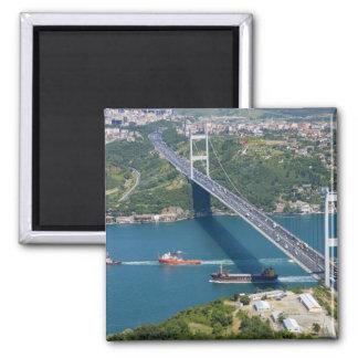 Fatih Sultan Mehmet Bridge over the Bosphorus, Square Magnet