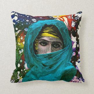 Fatima by Michael Moffa Cushion