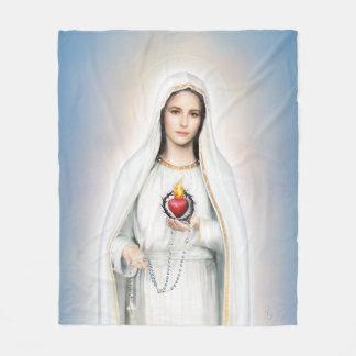 Fatima, Immaculate Heart Medium Fleece Blanket