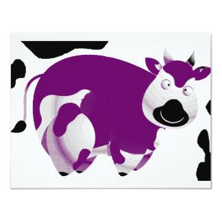 Fatty Big Cow 11 Cm X 14 Cm Invitation Card