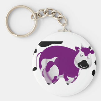 Fatty Big Cow Basic Round Button Key Ring
