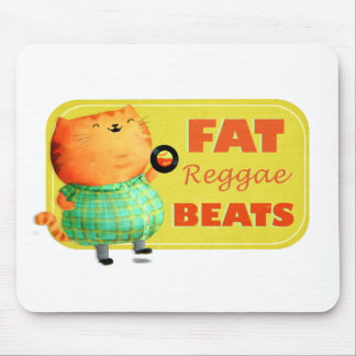 Fatty Fatty Fat Reggae Cat Mouse Pad