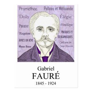 Fauré Postcard