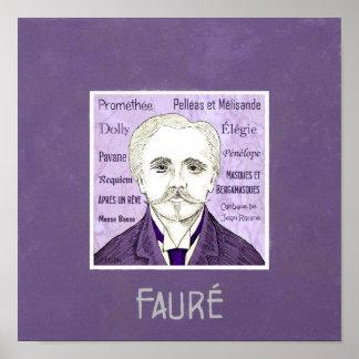 Fauré poster