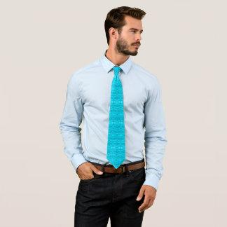 Faust Azure Blue Geometric Floral Pattern Designer Tie