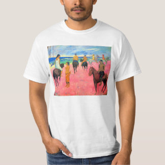 Fauvist painting Gauguin horse art riders on beach T-Shirt
