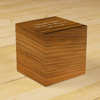 Faux Barn Wood Party Favour Box