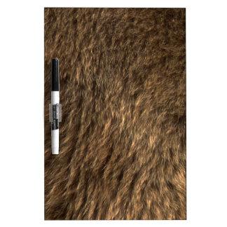 Faux Bear Fur Dry-Erase Boards